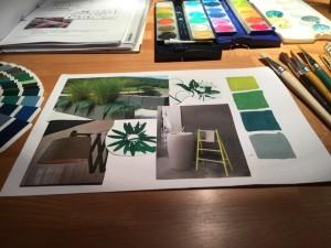 Grün-Grau Variationen